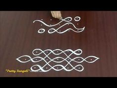 simple melika muggu borders*daily sikku kolam for beginners/easy and small apartment rangolis Indian Rangoli Designs, Rangoli Border Designs, Rangoli Designs Images, Rangoli Designs With Dots, Beautiful Rangoli Designs, Rangoli Borders, Rangoli Patterns, Kolam Rangoli, Free Hand Rangoli Design