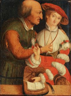 ❤ - LUCAS CRANACH (1472 - 1553) - The Ill Matched Couple. Germany must have had a lot of dirty old men.