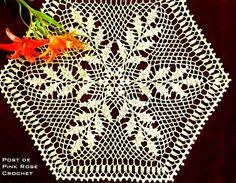 \ PINK ROSE CROCHET /: Centrinho de Crochê - Petit Napperon