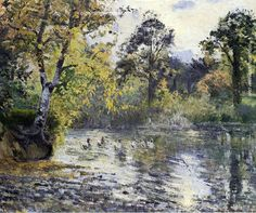 Camille Pissarro The Pond at Montfoucault, 1874 painting outlet online, painting Authorized official website