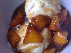 Easy Gluten Free Brown Sugar Peaches over Ice Cream Recipe