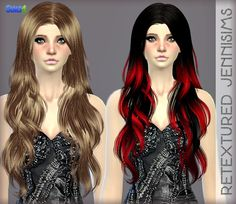 Jenni Sims's Retexture / Edit Elasims Hairstyle Retextured Long hairstyles for Females ~ Sims 4 Hairs - Sims 4 custom content