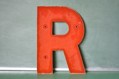 Vintage Red Sign Letter R by OhSoRetroVintage on Etsy, SOLD