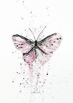 Pink purple butterfly Original Watercolor ink Painting - moth / insects - Fine Art drawing / wal butterfly Pink purple butterfly Original Watercolor ink Painting - moth / insects - Fine Art drawing / wall art / spring gift idea by Nora Butterfly Drawing, Butterfly Painting, Butterfly Watercolor, Butterfly Wallpaper, Ink Painting, Watercolor And Ink, Watercolor Paintings, Fine Art Drawing, Art Drawings