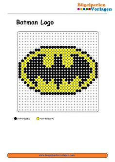Batman Schild Bügelperlen Vorlage                                                                                                                                                                                 Mehr