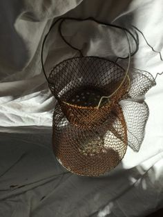Industrial chic decor fishkeeper net candle by ancienesthetique