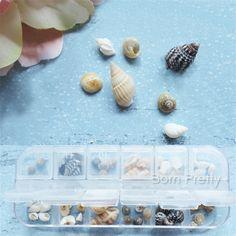 $3.88 1 Box 3D Nail Art Decoration Conch Shell Pattern DIY Tips Fashion Nail Accessories - BornPrettyStore.com
