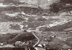 At about 10:15 p.m. the night of May 4, 1971, a part of the quaint little hamlet of St. Jean-Vianney in Quebec simply disappeared. Amid the wreckage of homes and the bodies of 31 residents the next morning, investigators found that recent rains and an early spring thaw had liquefied the clay surface and dumped almost 350,000 square yards, some of it falling into the nearby Saguenay River. Today, trees and shrubbery have reclaimed the remainder of the neighborhood. George Santayana, Canadian History, Early Spring, World History, Quebec, Yards, Bodies, The Neighbourhood, The Past