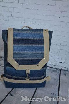 0df41e67e201 Купить или заказать Джинсовый рюкзак для города в интернет-магазине на Ярмарке  Мастеров. Этот