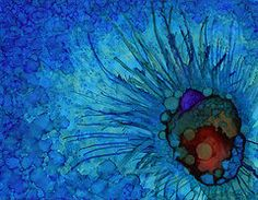 Alcohol Ink Art - Call An Optimist by Monica Moody