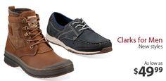 Clarks for Men -                                                                        Padmore Boot in Beeswax                                 Charring M Loafer Slip-Ons in Dark Tan                                 Travel Moc Tobacco Loafer Slip-Ons in Burgundy                                 Girards...  #Bed, #Boot, #ContrastStitching, #Dress, #Footwear, #Laceup, #Moccasin, #RubberSole, #Sandal, #SlipOn, #Sneaker, #Tie