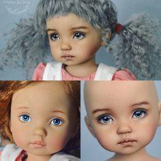 OOAK Boneka Effner doll by Madam Bu. New face and Lama wig. ООАК малышка Бонека Эффнер от Мадам Бу. Новое личико и парик из ламы. #boneka #bonekadoll #dianaeffnerdoll #ooak #repaint #comission #перерисовка #малышка #веснушки #заказ