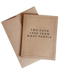 You Suck Less Than Most People Card Set