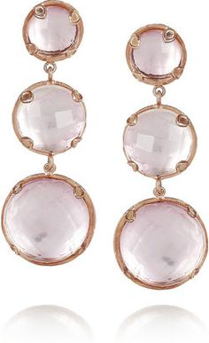 ShopStyle: Larkspur & Hawk Haley 22-karat rose gold-dipped topaz drop earrings