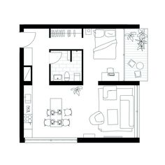 Small House Plans, House Floor Plans, Small Floor Plans, Best Tiny House, Apartment Floor Plans, Small Cottages, House Drawing, Sims House, Tiny House Design