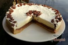 Fantasztikus csokoládés torta sütés nélkül | TopReceptek.hu Nutella, Cheesecake, Tiramisu, Pie, Ethnic Recipes, Food, Food Cakes, Deserts, Torte