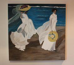 """Reproducción """"Paseo a orillas del mar"""". Acrílico sobre lienzo. Dimensiones: 90x90cm Precio: 300€ Consulte nuestra web para más información."""