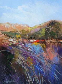 ☼ Painterly Landscape Escape ☼ landscape painting by Carol Engles