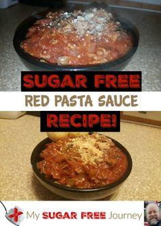 Sugar Free Red Pasta Sauce Recipe!