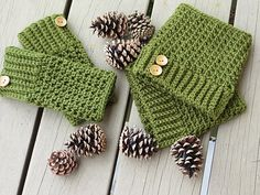 These boot cuffs can be worked in a couple of hours. Make them with a matching pair of mittens and you have a wonderful Christmas Gift. I enjoyed photographing them as much as making them. The pine cones added the right measure of pizzazz. They looked so beautiful, I was tempted to focus more on the pine cones than the boot cuffs themselves. I hope you will enjoy sporting these boot socks as much as I did designing them.
