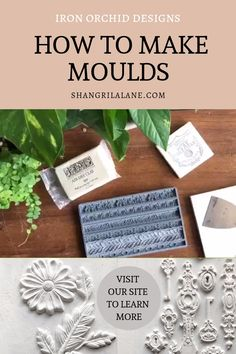 The IOD Décor Moulds are made from food-safe materials (do not use the same set for food and crafts) and can be used to transform and create baked goods, furniture, soaps, jewelry, and more. soaps diy videos How To Make Moulds Plaster Crafts, Plaster Art, Resin Crafts, Jewelry Crafts, Plaster Molds, Diy Home Crafts, Arts And Crafts, Decoration Shabby, Handmade Decorations