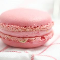 Pink Macarons   The Daily Meal #pink #macarons #cookies #valentinesday