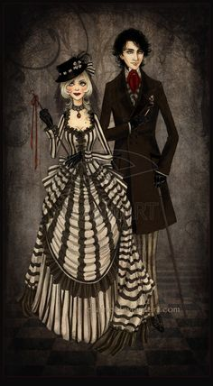"""Characters from """"The Night Circus,"""" by Erin Morgenstern. Cabaret, Dark Gothic, Victorian Gothic, Arte Punch, Illustrations, Illustration Art, Le Bateleur, Dark Circus, Night Circus"""