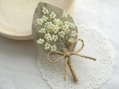 Set of 10 Ivory Burlap Boutonniere by WeddingForYou on Etsy, $90.00