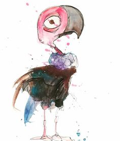 Beth is a turkey vulture http://ift.tt/2iPr17R Art watercolor acrylic doodle art painting artistsoftumblr watercolor