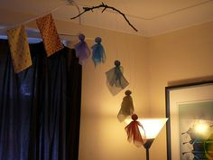 Waldorf Craft : Hanging Fairies