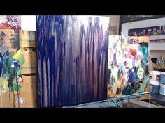 "James Kruse Acrylic Drip Technique. ""Origins"" beginning, 36x24 - YouTube"
