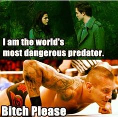 Randy is The Viper, the Apex Predator after all. Wrestling Memes, Wrestling Superstars, Wwe Funny, Wwe World, Randy Orton, Professional Wrestling, Wwe Wrestlers, Sexy Men, Funny Pictures