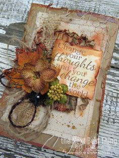 Fall Card by Lynne Forsythe #tatteredangels #canvascorp