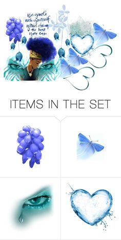 """Misty Blue"" by marquita-jaja-davis ❤ liked on Polyvore featuring art, Blue, soul, beYOURSELF and esteem"