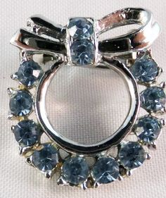 Vintage jewelry brooch in  blue rhinestone by DevineCollectible, $25.00