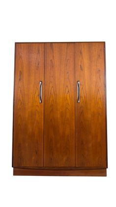Ideal Teak Wardrobe Armoire Danish Mid Century Modern