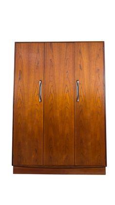Teak Wardrobe Armoire Danish Mid Century Modern