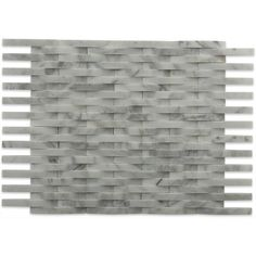 Shop 11 1/2 x9 3D Interlace White Carrera Polished Marble Tile at TileBar.com. Cabana Decor, Pool Cabana, Stone Veneer, Stone Tiles, Carrara, Kitchen Backsplash, White Marble, Home Improvement, House Design