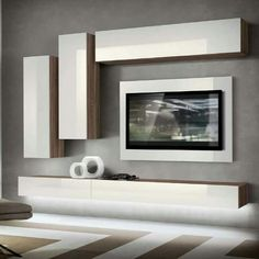 Modern Wall units and Entertainment centers for your modern living room from top Italian and European designers at closeout price. Living Room Wall Units, Living Room Tv Unit Designs, Home Living Room, Living Room Decor, Tv Unit Decor, Tv Wall Decor, Modern Tv Wall Units, Tv Wall Design, Furniture