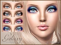 Galaxy Eyeshadow by Pralinesims at The Sims Resource - Sims 3 Finds