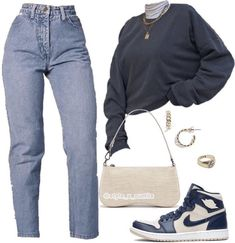 Swaggy Outfits, Baddie Outfits Casual, Komplette Outfits, Kpop Fashion Outfits, Retro Outfits, Cute Casual Outfits, Polyvore Outfits, Stylish Outfits, Fashion Mode