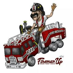 Quint Firefighter Family, Firefighter Paramedic, Firefighter Decor, Volunteer Firefighter, Fire Dept, Fire Department, Fire Safety Tips, Chicano Drawings, Fire Hall