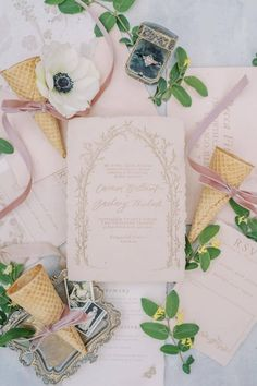Just when we thought we've seen every type of stationery flatlay. 😍🍦   Photography: @kismetvisuals #stylemepretty #weddinginvitations #weddinginvites Wedding Stationery, Wedding Invitations, Invites, Wedding Bands, Wedding Day, Floral Arch, Invitation Suite, Wedding Bouquets, Wedding Dresses