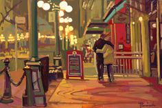 Gastown Stroll  24 x 36 Oil on Canvas