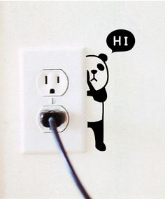 Buy Panda Switch Sticker Wall Quote Wall Stickers Vinyl Decor Decals Home Mural at Wish - Shopping Made Fun Vinyl Decor, Wall Painting Decor, Wall Paintings, Wall Art, Creative Wall Painting, Panda Wallpapers, Wall Drawing, House Drawing, Wall Decal Sticker