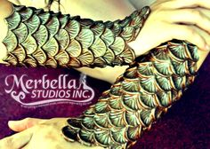Silicone Mermaid Arm Bracers Scales by *MerBellas on deviantART Would like them to match the green top I want from Merbellas