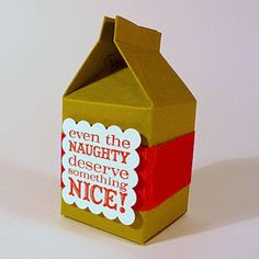 Milk carton party favors gift boxes 6 DIY kit by CardSong on Etsy, $8.95  For Osceola