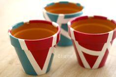 Dipingere i vasi di terracotta: il mio tutorial #diy #craft #handmade #faidate