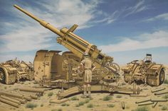 A Captured German 88mm AA/AT Gun in North Africa