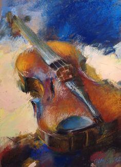 today i'm sharing an oil pastel drawing. i've been thinking about making a drawing with oil pastels lately. idk why. Chalk Pastel Art, Soft Pastel Art, Pastel Artwork, Oil Pastel Drawings, Chalk Pastels, Soft Pastels, Chalk Art, Violin Painting, Violin Art